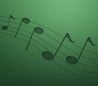 Green Music Notes background image